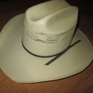 DOUBLE SS IVORY STRAW HAND WOVEN HAT